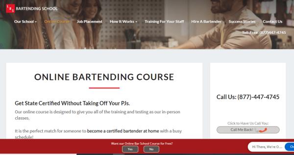 LBS Bar Training-Course - Online Bartending