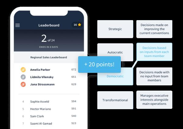 Virtual Training Idea - Leaderboards