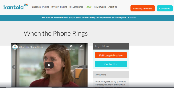 Top 10 Employee Training Videos & Microlearning Courses - When the Phone Rings