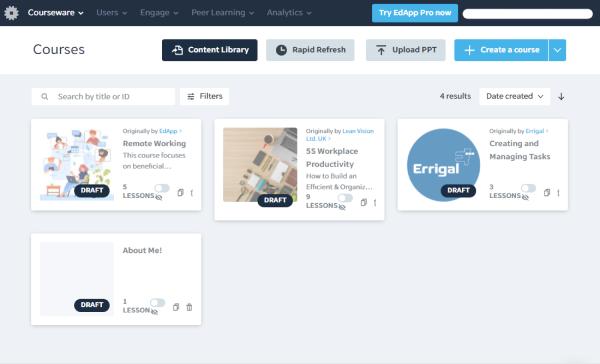 Training Management Tool - EdApp