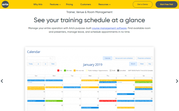 Training Management Tool - Arlo
