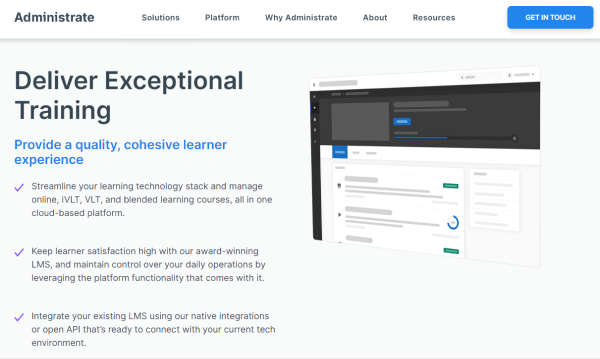 Training Management Tool - Administrate