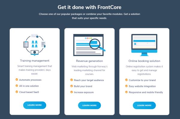 Training Management Tool - FrontCore