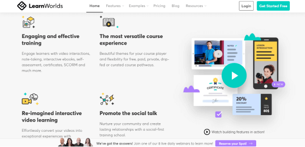 Online Training Website - LearnWorlds