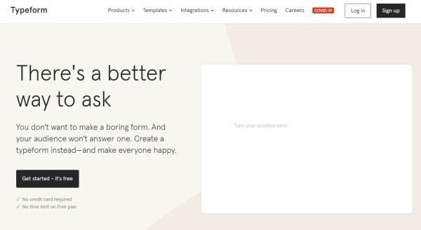 Quiz Software - Typeform