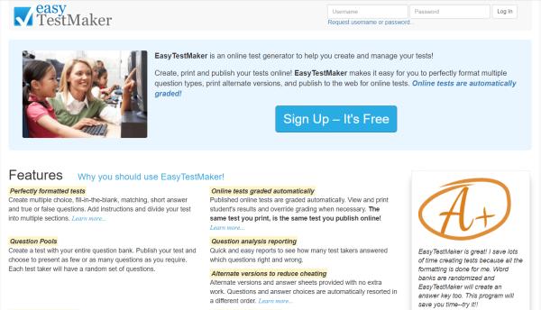 Quiz Software - EasyTestMaker