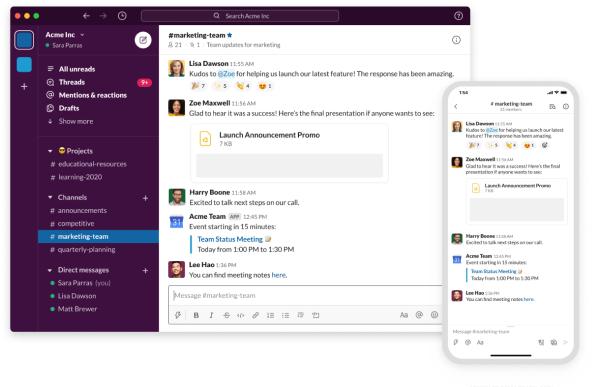 Online HR Tool - Slack