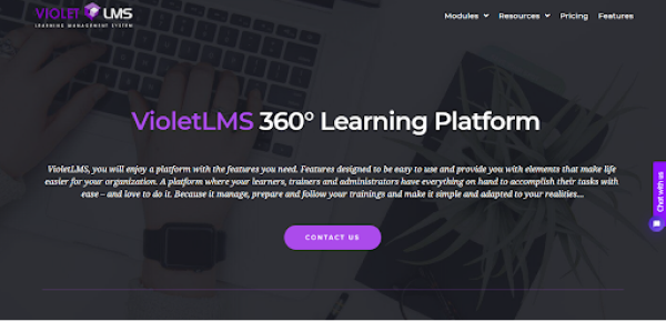 Elearning Mobile App - Violet LMS