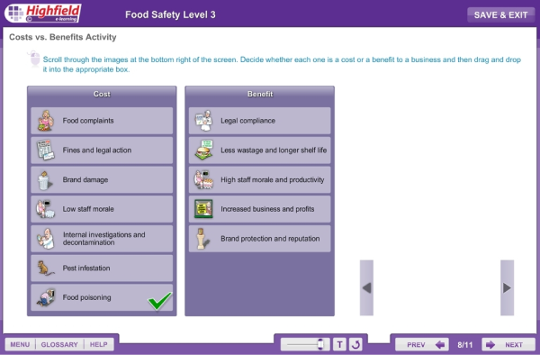 Highfield Food Hygiene Online Training Course - Food Safety Level 3
