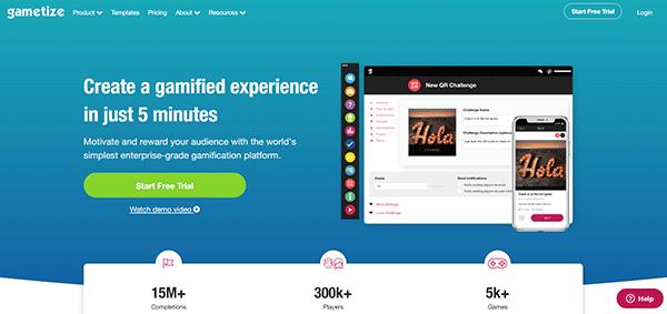 Game based learning platform - Gametize