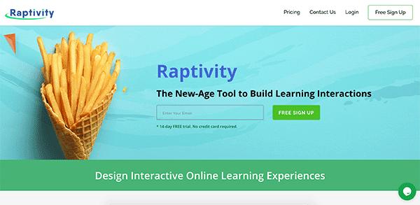Game based learning platform - Raptivity