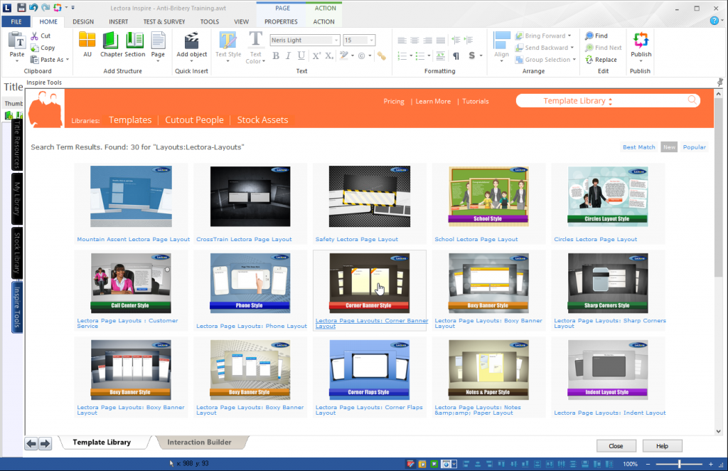 Lectora Instructional Design Software Tool
