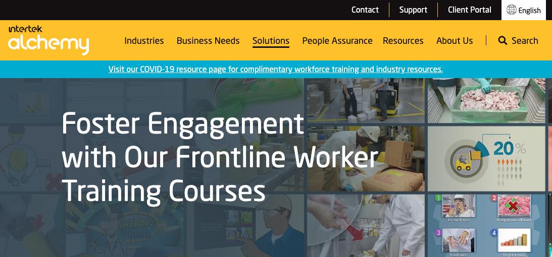 Digital Training Management System - Intertek Alchemy