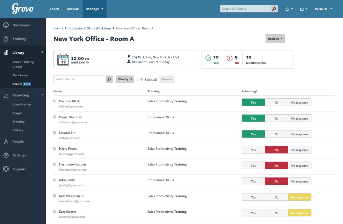 Enterprise Learning Management System - Grovo