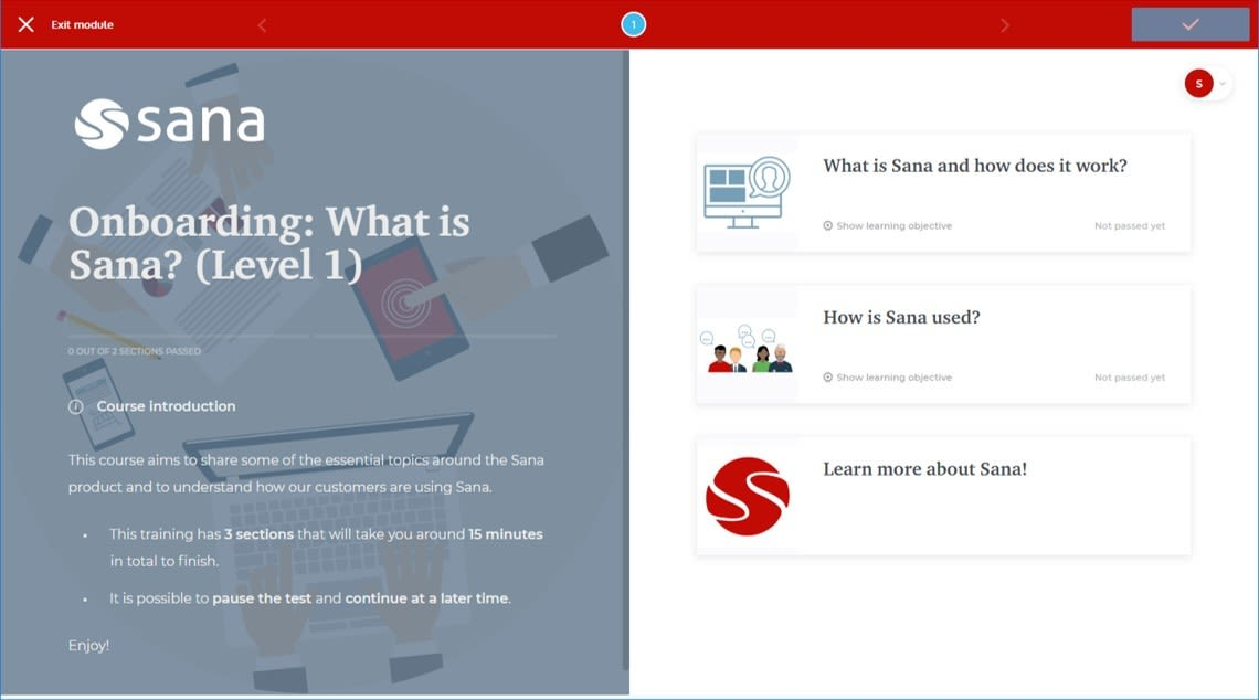 Course Management System - SANA EASYGENERATOR