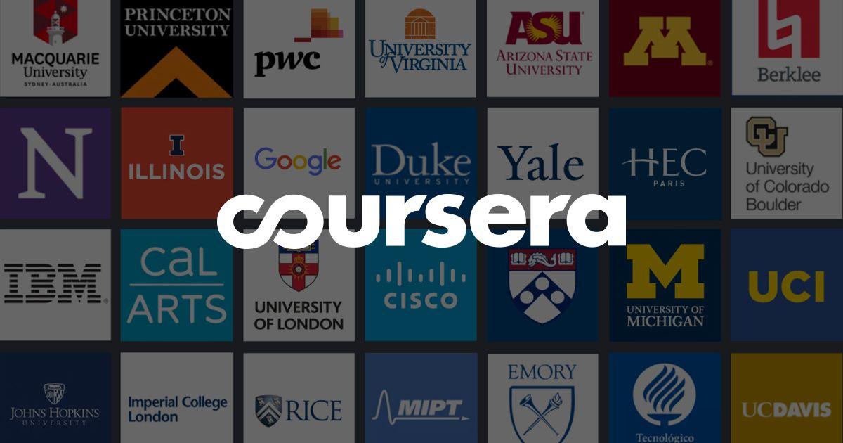 Best Training Website -  Coursera