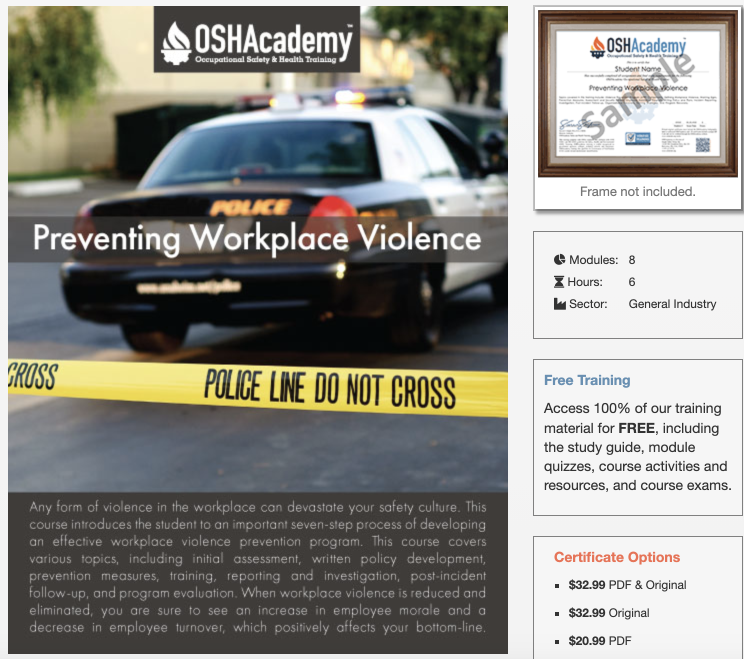 Workplace Violence Prevention Training Course - Preventing Workplace Violence from OSH Academy