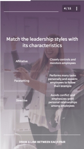 microlearning evidence - EdApp course: Leadership and Coaching Management Styles