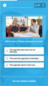 A far more engaging way to reinforce a message than a regular multiple choice-based course