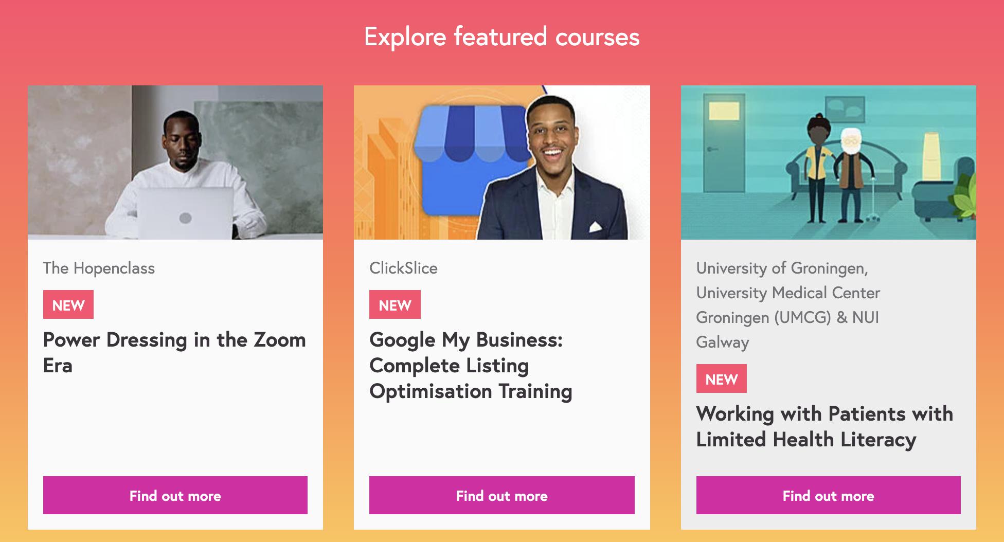 Websites For Training And Development -  FutureLearn