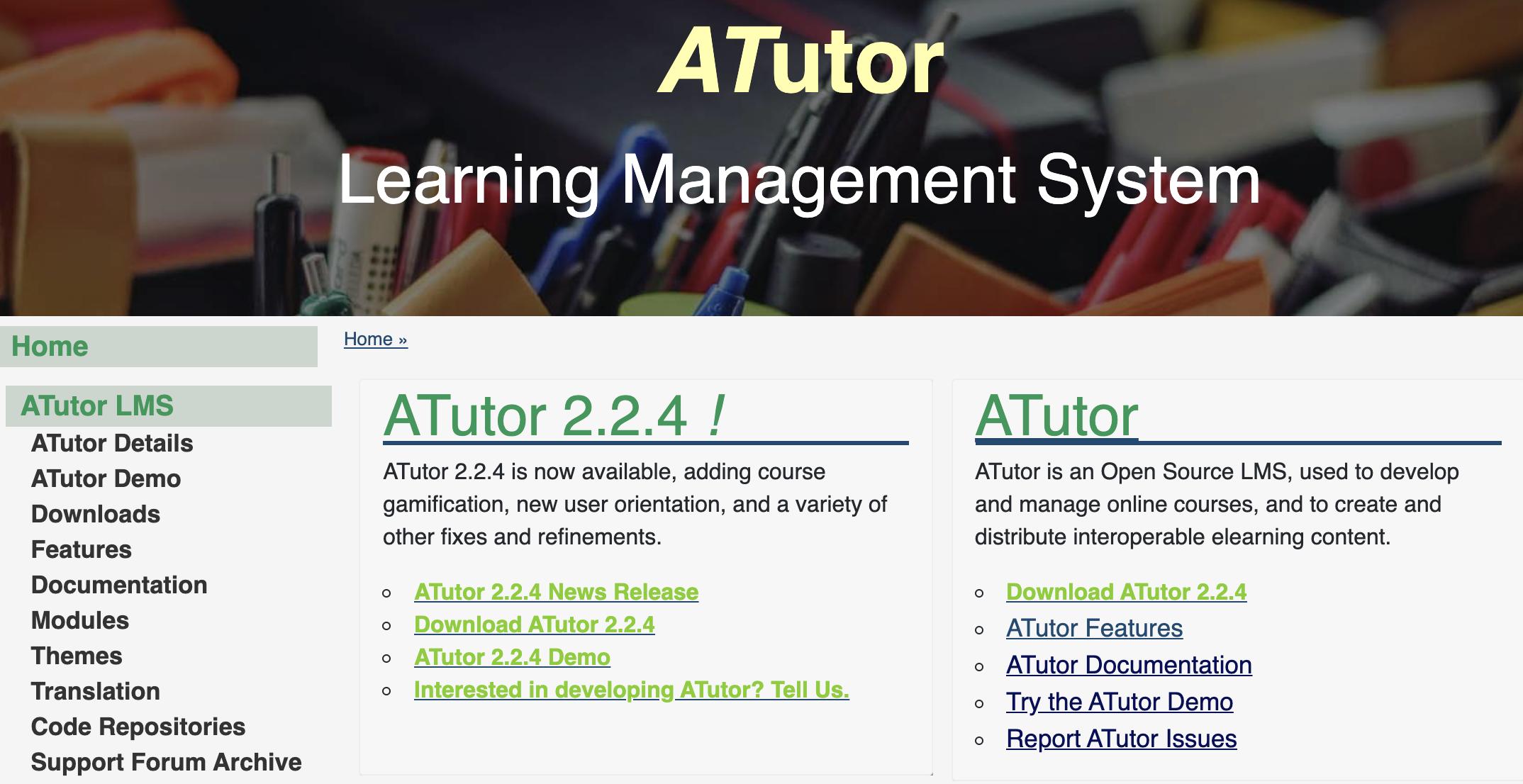 Training Website - AtTutor