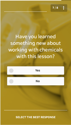 Training Survey Question Example #6