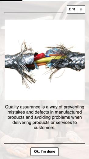Customer service training idea 9 - quality assurance