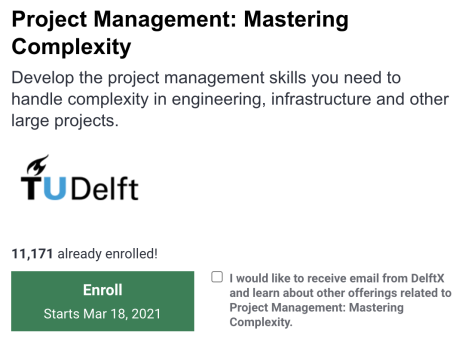 Project Management Training Free - Deft University of Technology