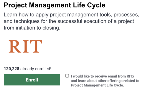 Project Management Training Free - Rochester Institute of Technology