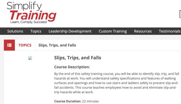 Simplify Compliance Site Safety Training