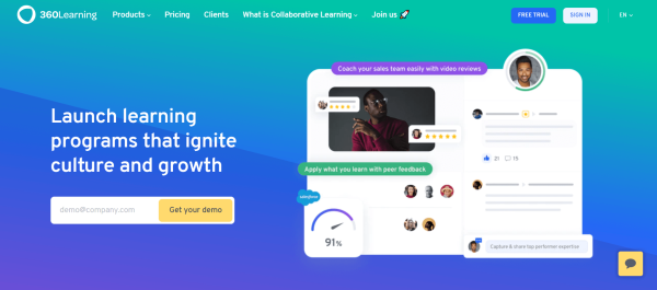 Free Learning Management System - 360 learning