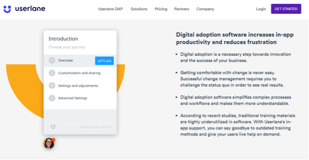 Interactive Online Training Software - Userlane