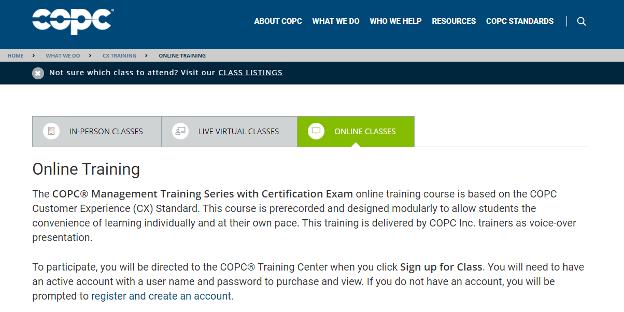 Call Center Training Online - COPC