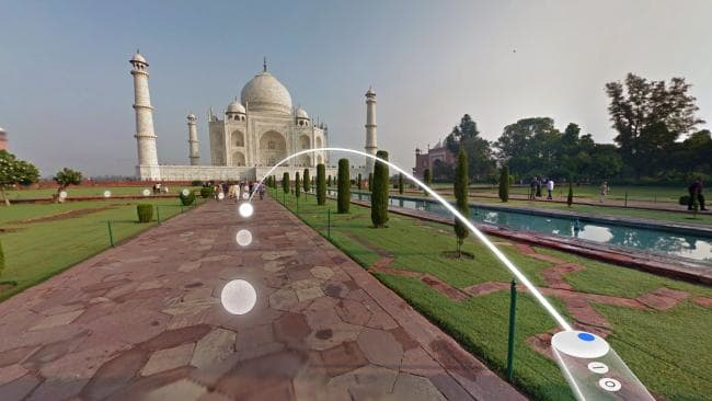 Google's Daydream lets you virtually walk around major places of interest.