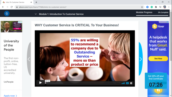Free customer service training course #7 - Outstanding customer service - your ultimate guide