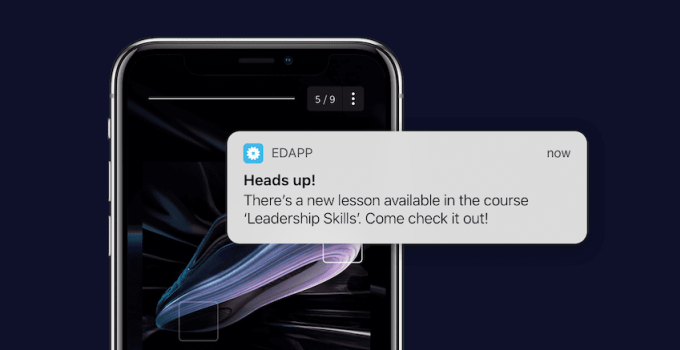 Nudge Learning | A push notification with Ed Mobile App