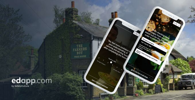 Number one pub, The Farmer's Boy, challenges traditional training methods with mobile learning platform EdApp