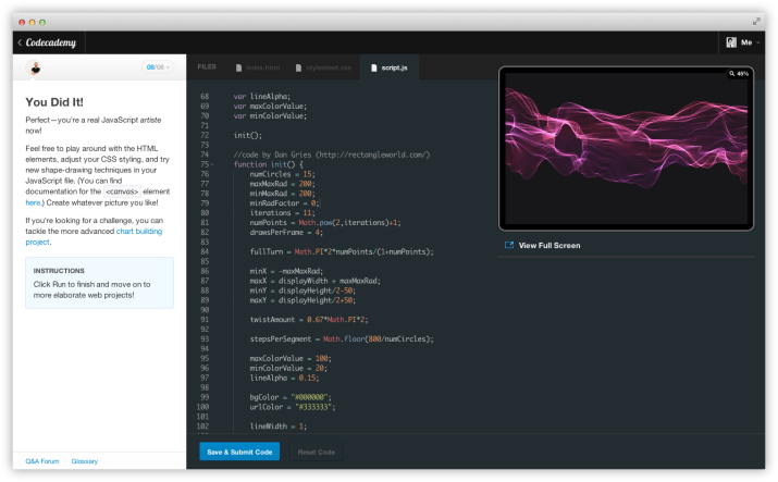 Free Online Learning Tool - Code Academy