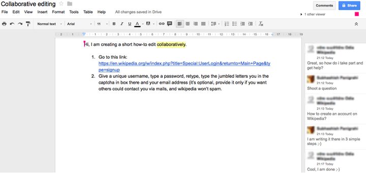 Google Docs Collaborative Learning Solution