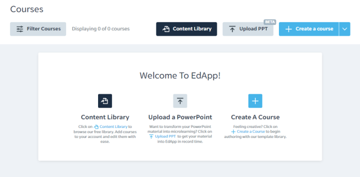 How to develop online training courses with EdApp Courses Page Courses