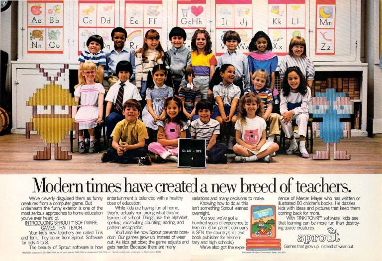 Computer aided learning replacing or helping teachers in the 1980s. Thankfully the former was true.