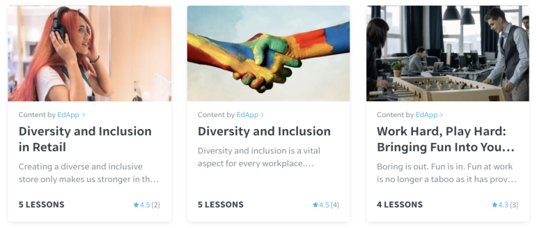 EdApp diversity and inclusion courses