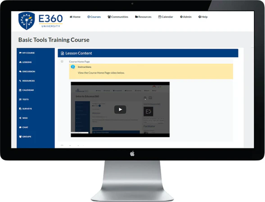 Learning Content Management System - Edvance 360