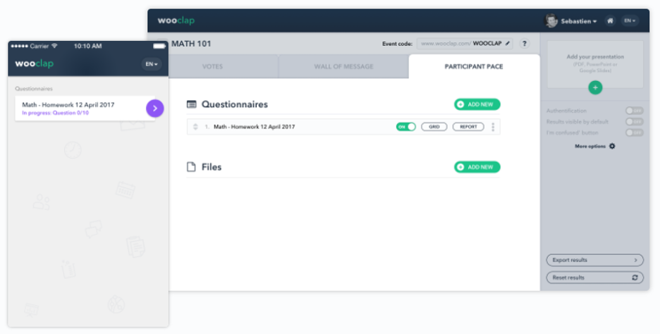 Virtual Classroom Software - Wooclap