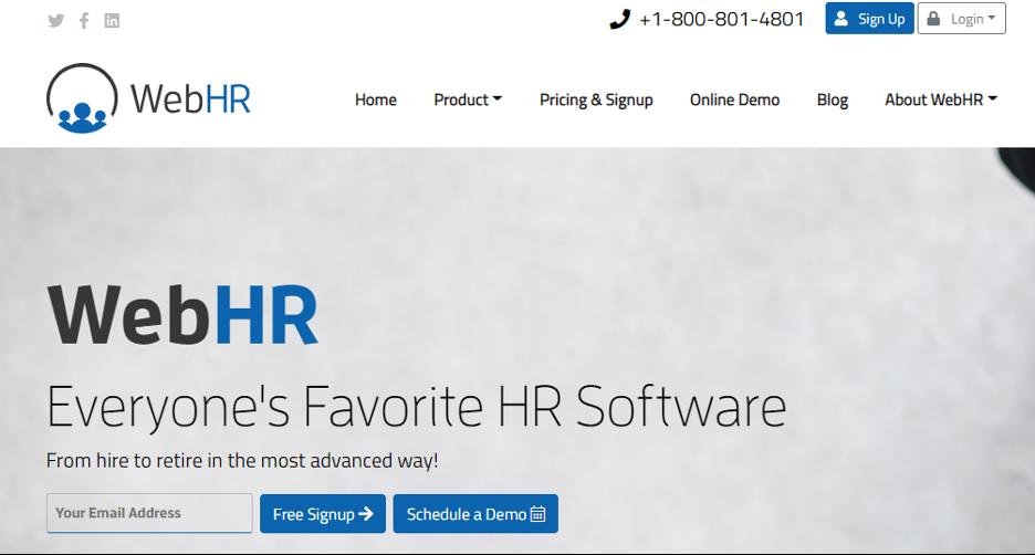 WebHR Web Hr Software