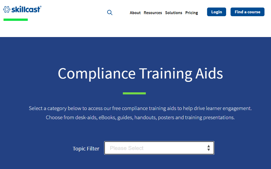 Skillcast Compliance Training Course