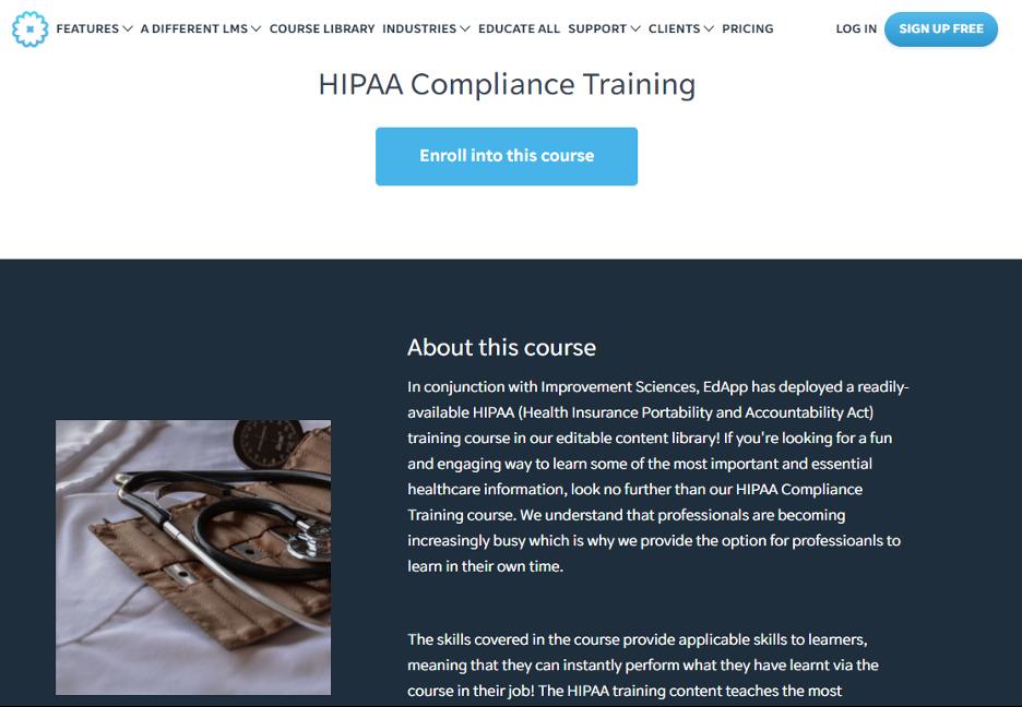 EdApp Free HIPAA Training