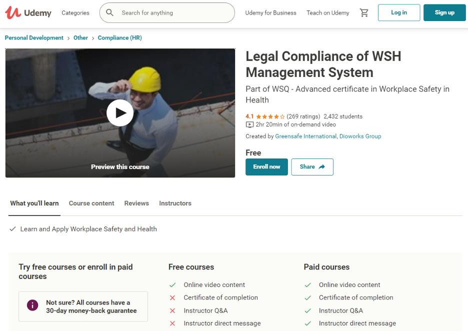 Udemy Compliance Training Course