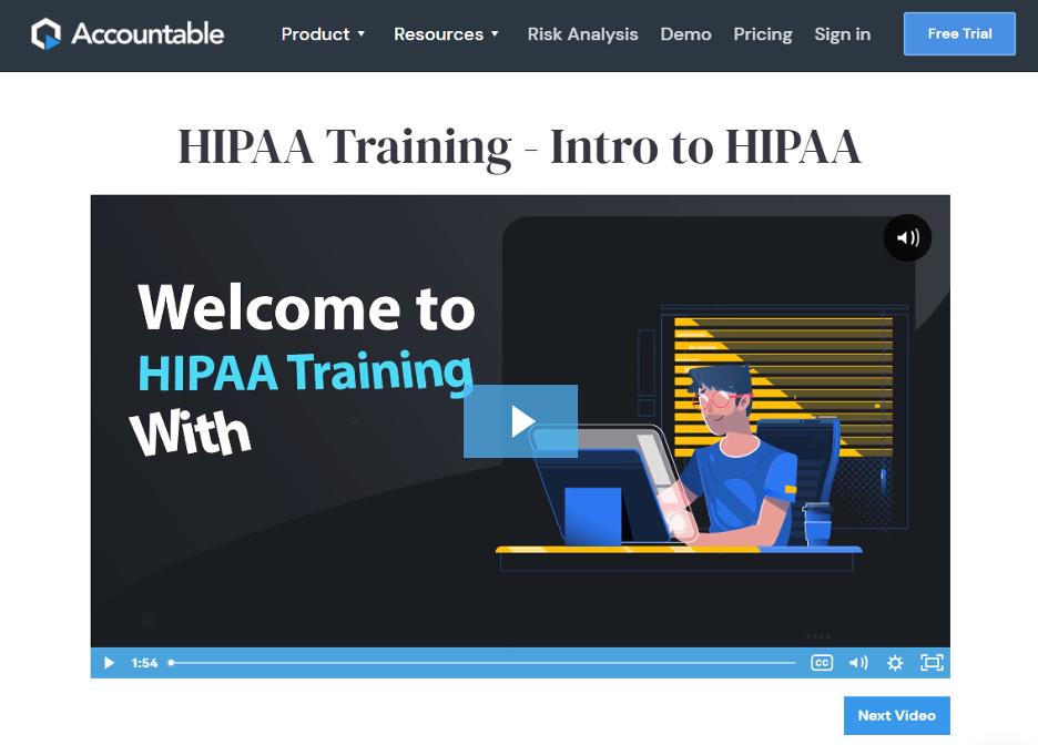 Free HIPAA Training - Accountable HQ