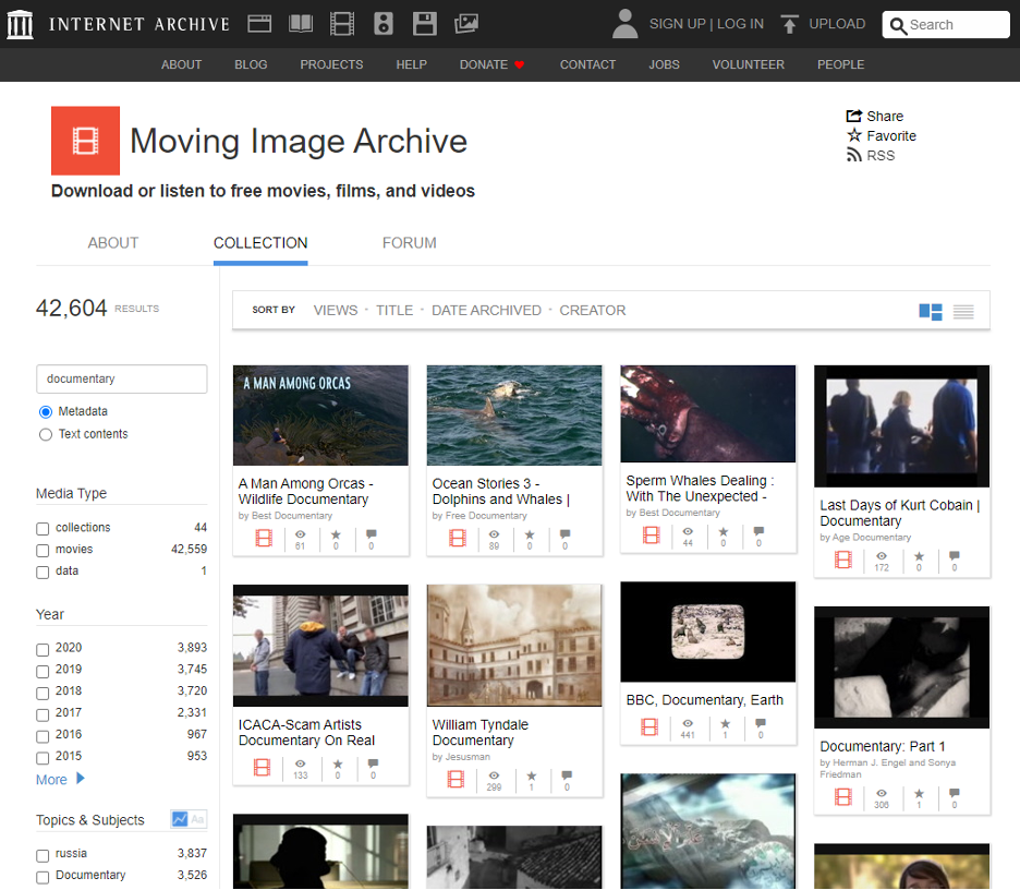 Internet Archive Video Learning Solution